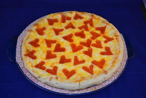 Heart Shaped Pepperoni Pizza - Mrs. Happy Homemaker