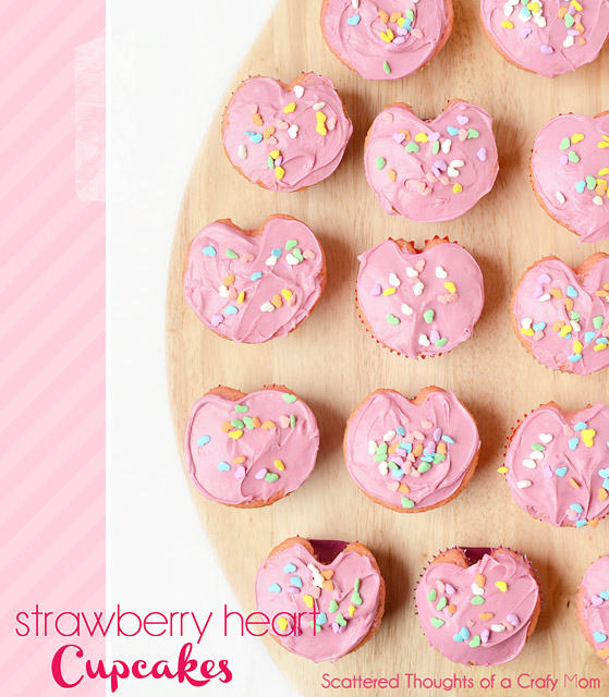 Heart Shaped Cupcakes - Scattered Thoughts of a Crafty Mom