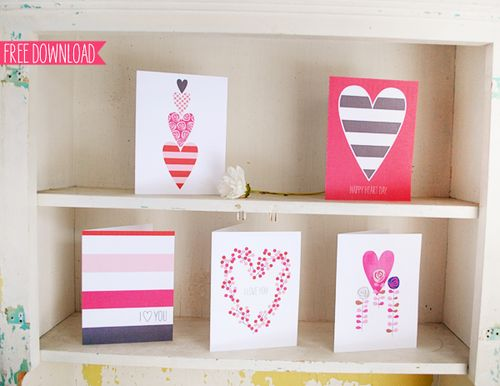 5 Valentines Cards - Sweet Muffin Suite