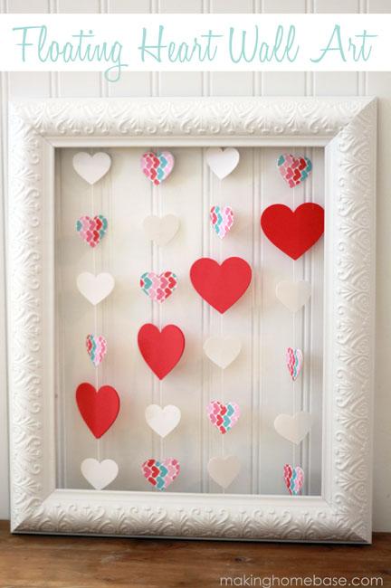 Floating Heart Wall Art - Making Home Base