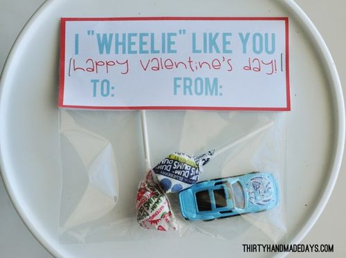 I Wheelie Like You Valentines - Thirty Handmade Days #thirtyhandmadedays #valentines #kidsvalentines #valentinesday
