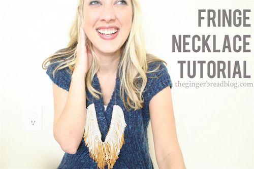 Fringe Necklace Tutorial - The Gingerbread Blog