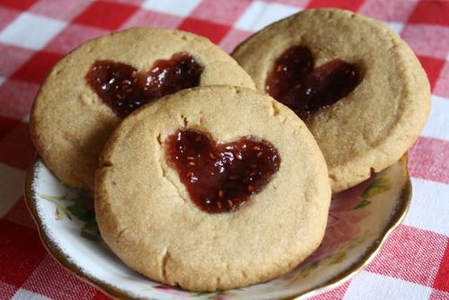 Heart Thumbprint Cookies - Yesterday on Tuesday