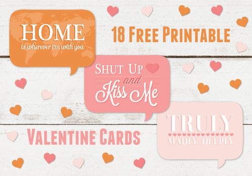 18 Free Printable Valentine's Cards - Thank You Card Shop