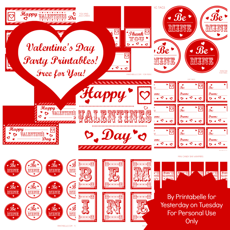 Mega Set Valentine's Day Party Printables - YoT & Printabelle