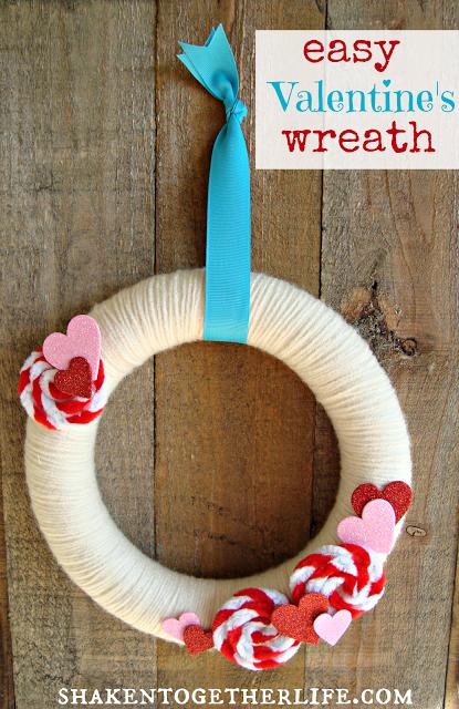 Easy Valentine Wreath - Shaken Together Life