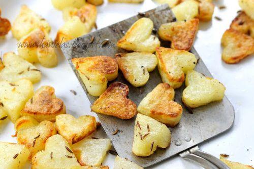 Heart Shaped Roasted Potatoes - Haniela's