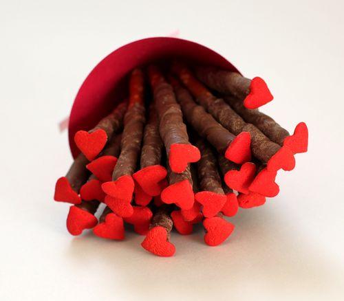 Pretzel Heart Sticks - Creatively Christy