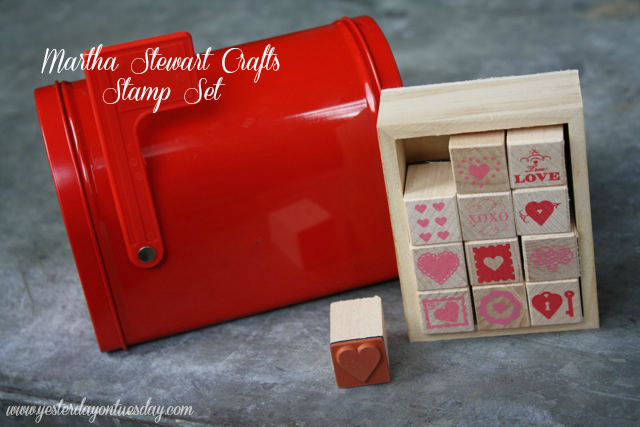 Martha Stewart Crafts - Yesterday on Tuesday #marthastewartcrafts #valentine's day