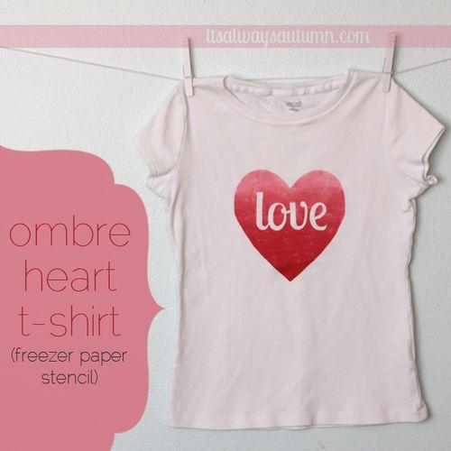 Ombre Heart Tee Shirt - It's Always Autumn