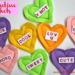Make cute Valentine Heart Sachets with dryer sheets from http://yesterdayontuesday.com #valentinesday #hearts