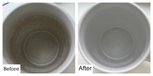 Coffee Cup Stain Removal  - #yesterdayontuesday #coffeecupstainremoval