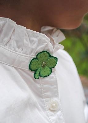 Shamrock Pin - Zakka Life #stpatricksday #stpatricksdaycrafts #greencrafts