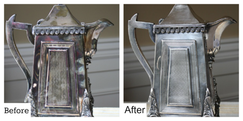 How to Remove Tarnish from Silver - #yesterdayontuesday #tarnishedsilver