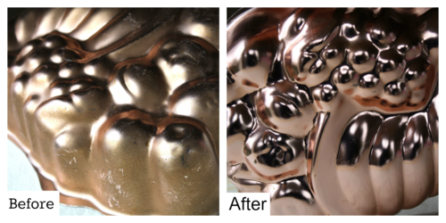 Tarnished Copper Tips - #yesterdayontuesday #tarnishedcopper #stainremoval