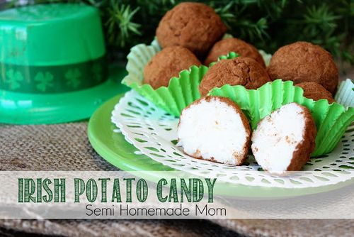 Irish Potato Candy - Semi Homemade Mom