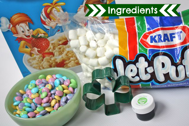 St. Patrick's Day Rice Krispie Treats - #yesterdayontuesday #ricekrispietreats, #greenricekrispietreats, #stpatricksdaytreats