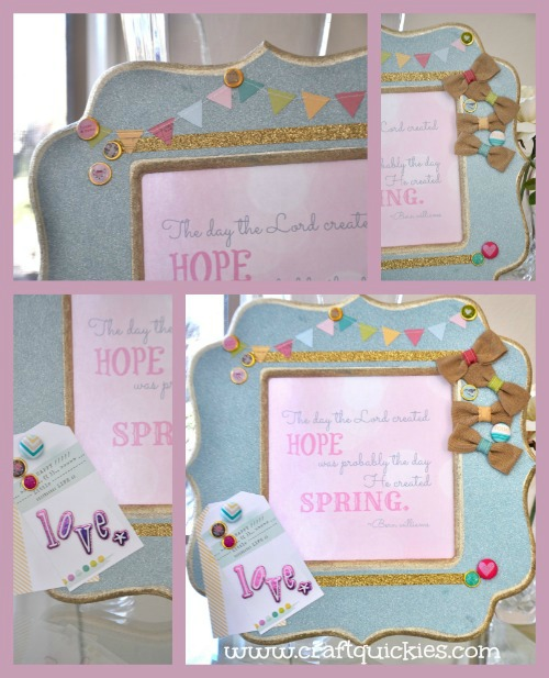 Dear Lizzy Frame and Free Printable
