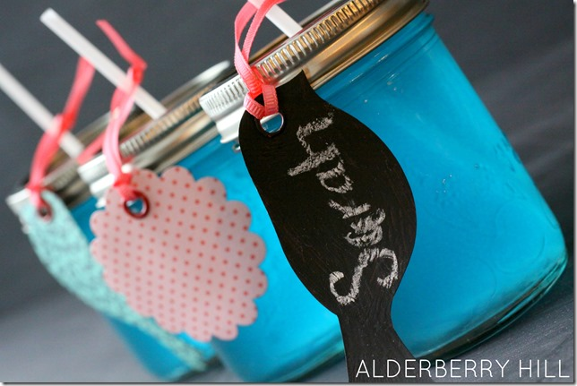 Easy Chalkboard Tags - Alderberry Hill