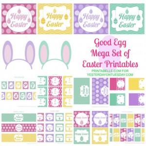 FREE Mega Set Easter Printables | Yesterday On Tuesday #easter #freeeasterprintables #easterprintables #yesterdayontuesday #printabelle