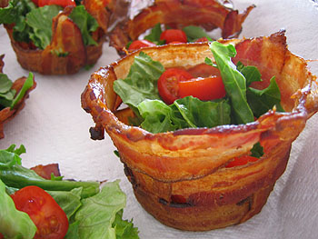 Bacon Cups by Not Martha