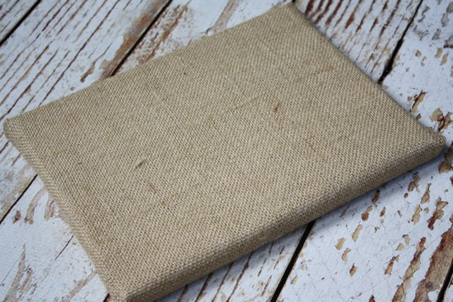 Canvas Wrapped in Burlap