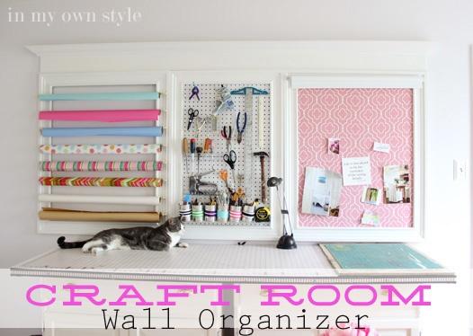 Craft Room Wall Organizer