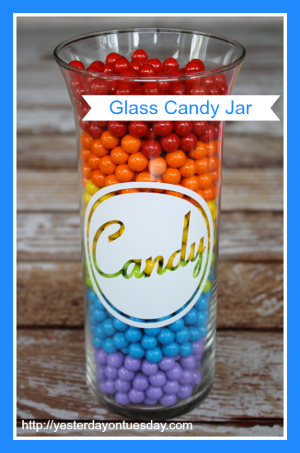 DIY Glass Candy Jar