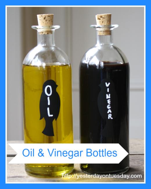 DIY Oil and Vinegar Bottles