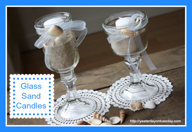 DIY Glass Sand Candles