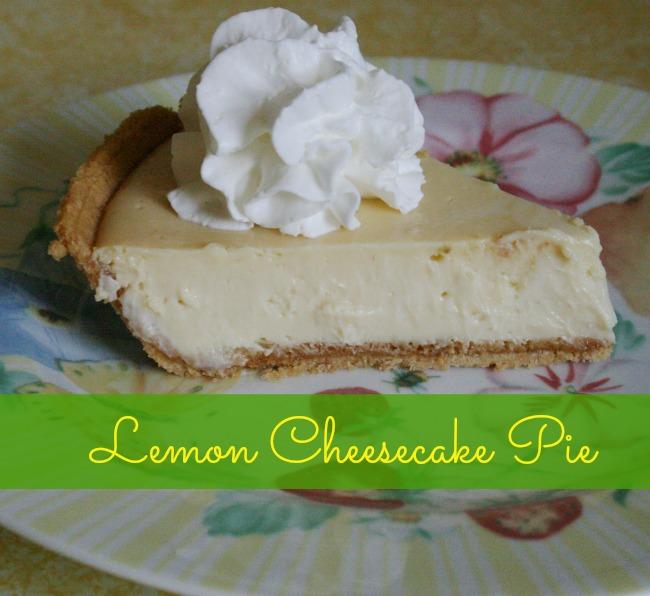 Delicious Lemon Cheesecake Pie
