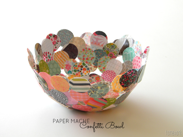 Making a bowl out of paper