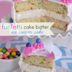Cake Batter Ice Cream Cake
