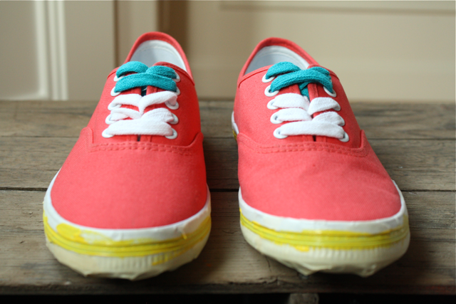Create cute canvas sneakers with DecoArt and Apple Barrel paints