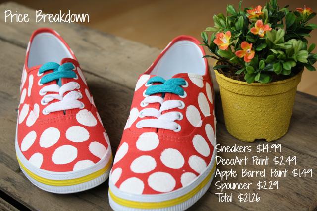 Creating Kate Spade knock-off sneakers