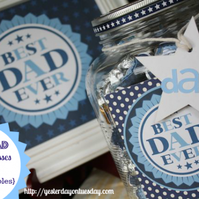 Father's Day Kisses & Candy Gift Jar