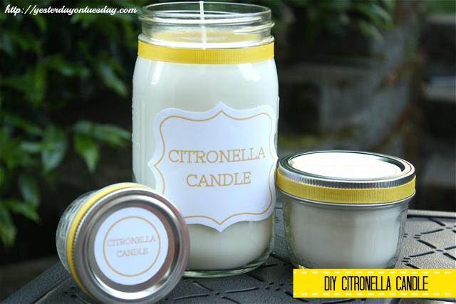 DIY Citronella Soy Candle