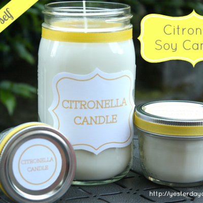 DIY Citronella Soy Candles