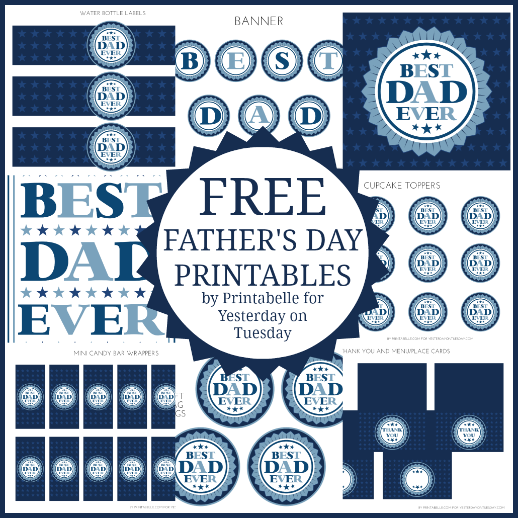 Free Father S Day Printables Yesterday On Tuesday