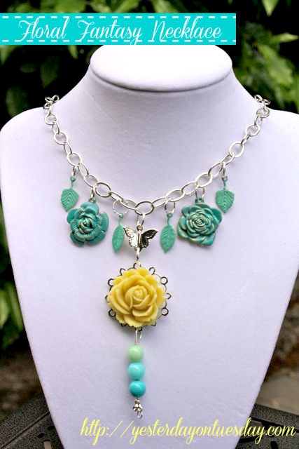 How to make an anthro inspired Floral Fantasy Necklace #necklace