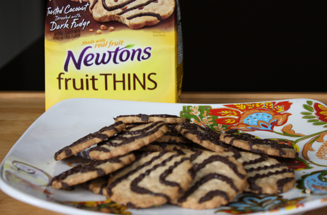 Newtons Fruit Thins Coconut Drizzled with Dark Fudge
