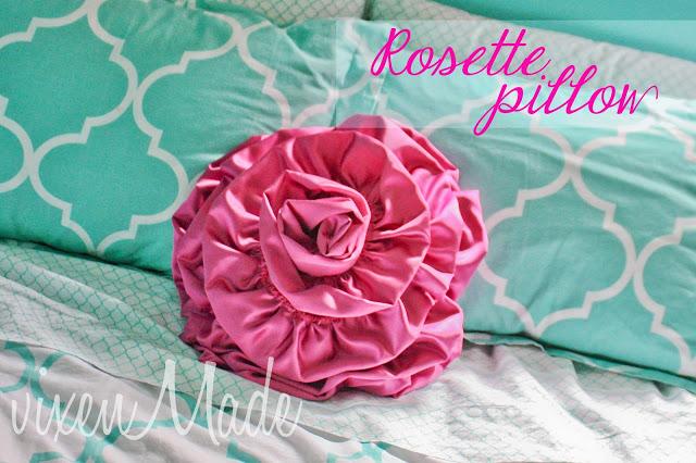 DIY Rosette Pillow