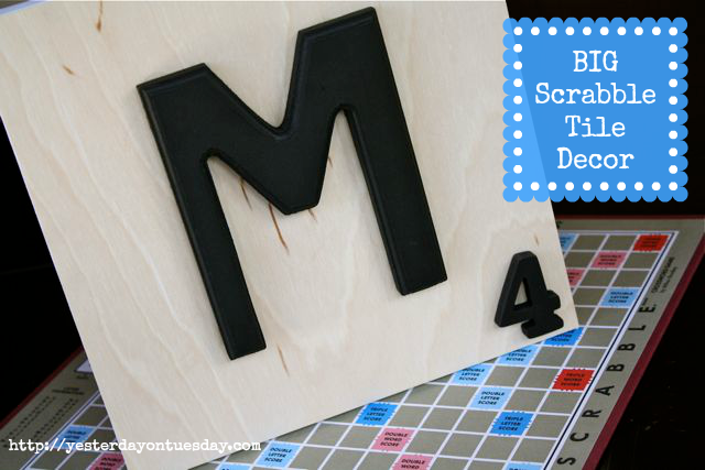 DIY Scrabble Tile Decor