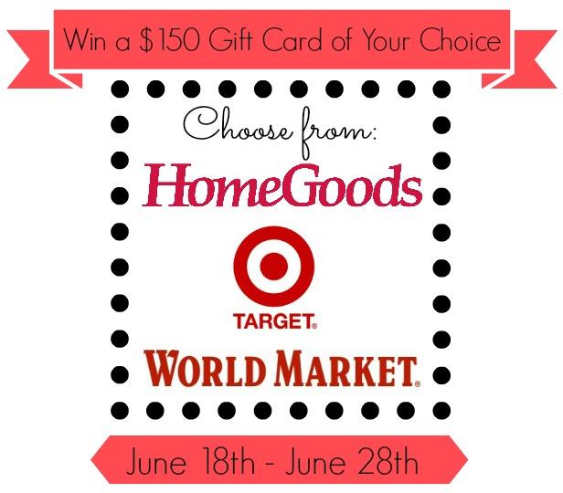 Target, Home Goods or World Market Giveaway