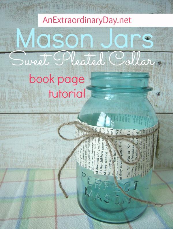Mason-Jars-Book-Page-Pleated-Collar-Tutorial-AnExtraordinaryDay.net_