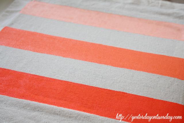 Neon Ombre Striped Tote Bag