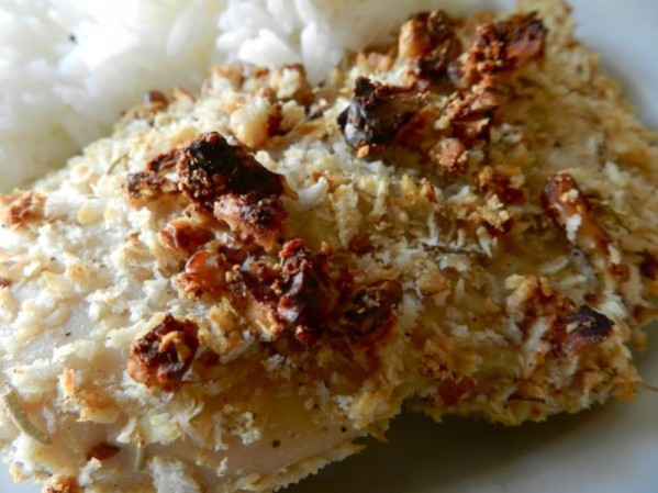 Walnut and Rosemary Oven Fried Chicken