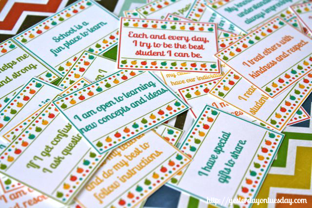 Back to School Meditation Cards