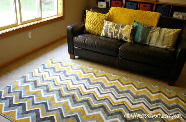 Rec Room Revamp and A Mohawk Carpet Giveaway
