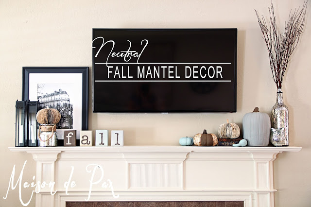 Project Inspire{d} Fall Mantel Ideas